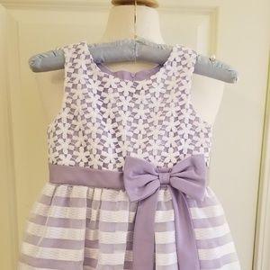 Rare Editions Girls Lilac Dress